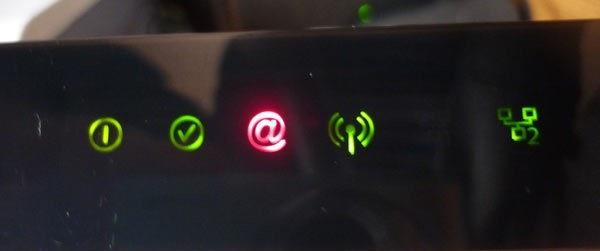 Почему горит красная лампочка на Wi-Fi роутере Ростелеком?